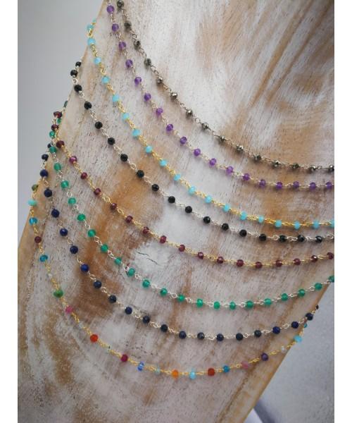 Collar minerales  tipo rosario